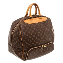 Louis Vuitton Monogram Canvas Leather Evasion Travel Bag