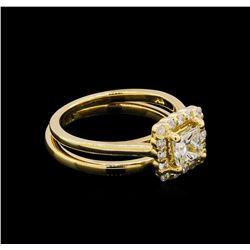 14KT Yellow Gold 0.91 ctw Diamond Wedding Set