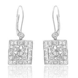14k White Gold 1.16CTW Diamond Earrings, (I1-I2/H-I)