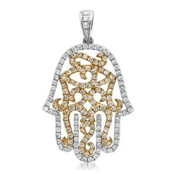 18k Gold 0.87CTW Diamond Pendant, (SI1 /G-H)