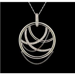 14KT White Gold 1.06 ctw Diamond Pendant With Chain