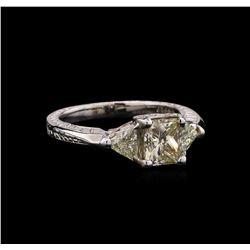 EGL USA Cert 1.78 ctw Diamond Ring - 14KT White Gold