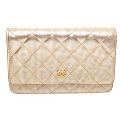 Chanel Gold Metallic Wallet On Chain WOC Crossbody Bag