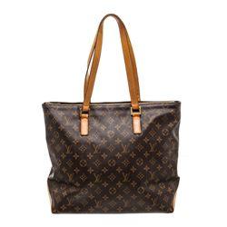 Louis Vuitton Monogram Canvas Leather Cabas Mezzo Shoulder Bag