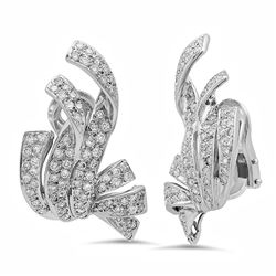 18k Gold 1.8CTW Diamond Earrings, (SI1-SI2/G-H)