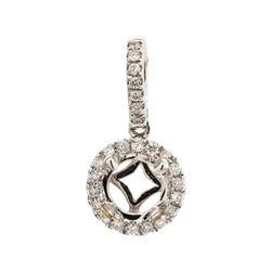 0.20 ctw Diamond Semi-Mount Pendant - 18KT White Gold