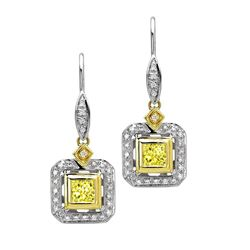 18k Two Tone Gold 1.22CTW Diamond Earrings, (VS1 /VS1-VS2/G-H)