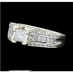 2.05 ctw Diamond Ring - 14KT White Gold