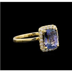 14KT Yellow Gold 2.11 ctw Tanzanite and Diamond Ring
