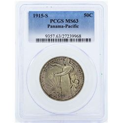 1915-S Half Dollar Panama Pacific Exposition Commemorative Coin PCGS MS63