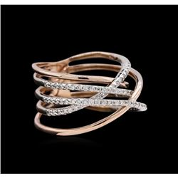 0.52 ctw Diamond Ring - 14KT Two-Tone Gold