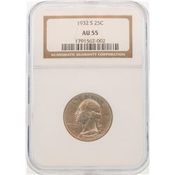1932-S Washington Quarter Coin NGC AU55