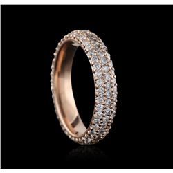 14KT Rose Gold 1.25 ctw Diamond Ring