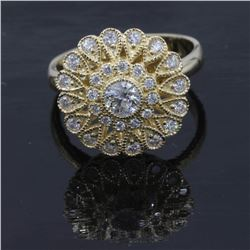 0.73 ctw Diamond Ring - 14KT Yellow Gold