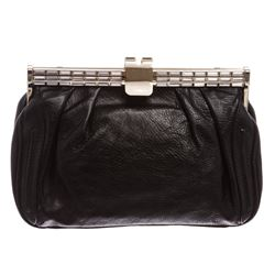 MCM Black Swarovski Leather Small Clutch