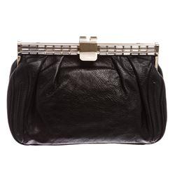 MCM Black Swarovski Leather Small Clutch