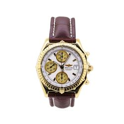 Breitling Chronomat Wrist Watch  - 18KT Yellow Gold
