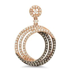 14k Gold 0.75CTW Diamond Pendant, (SI/H)