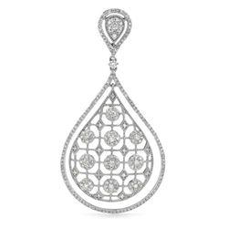 14k White Gold 1.63CTW Diamond Pendant, (SI3-I1/H-I)