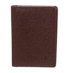 Louis Vuitton Burgundy Taiga Leather ID Holder Wallet
