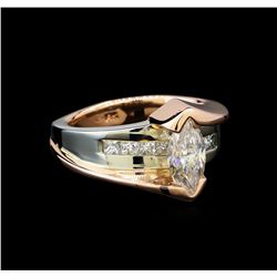 1.45 ctw Diamond Ring - 14KT White and Rose Gold