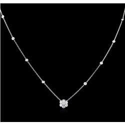 0.80 ctw Diamond Necklace - 14KT White Gold