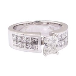 2.23 ctw Diamond Ring - 14KT White Gold