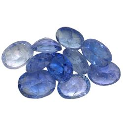 12 ctw Oval Mixed Tanzanite Parcel