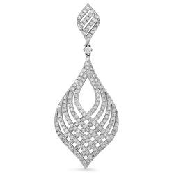 14k White Gold 1.50CTW Diamond Pendant, (I1-I2/F-G)