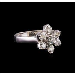 0.96 ctw Diamond Ring - 14KT White Gold