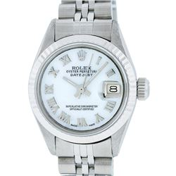 Rolex Ladies Stainless Steel Mother Of Pearl 26MM Datejust Wristwatch