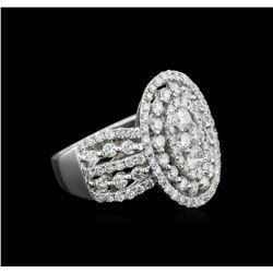 2.32 ctw Diamond Ring - 18KT White Gold