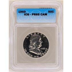 1953 Franklin Half Dollar Proof Coin ICG PR65CAM