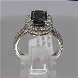 2.03 ctw Brown and White Diamond Ring - 14KT White Gold