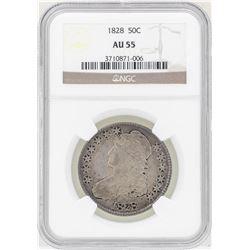 1828 Capped Bust Half Dollar Coin NGC AU55