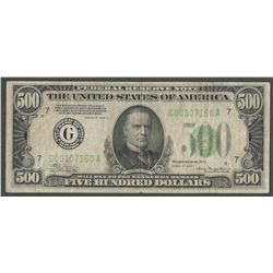 1934-A $500 Federal Reserve Note Chicago