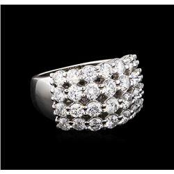 2.60 ctw Diamond Ring - 14KT White Gold