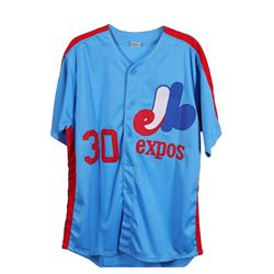 Montreal Expos Tim Raines Autographed  Jersey
