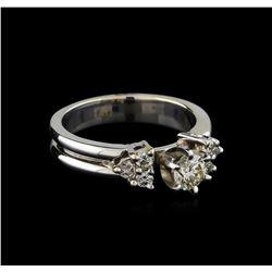 0.74 ctw Diamond Ring - 18KT White Gold