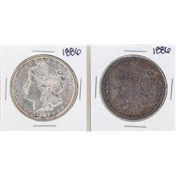 Lot of (2) 1886 $1 Morgan Silver Dollar Coin