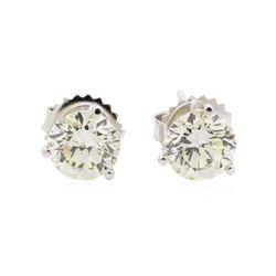 2.02 ctw Diamond Earrings - 14KT White Gold