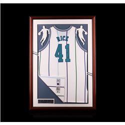 Glen Rice Framed Autographed Jersey