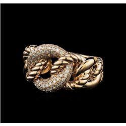0.58 ctw Diamond Ring - 14KT Rose Gold