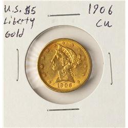 1906 $5 Liberty Head Half Ealge Gold Coin