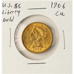 1906 $5 Liberty Head Half Ealge Gold Coin