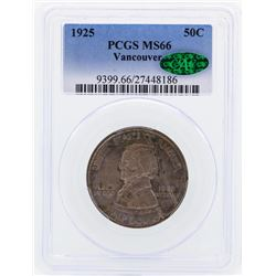 1925 Vancouver Commemorative Half Dollar Coin PCGS MS66 CAC