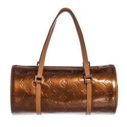 Louis Vuitton Bronze Vernis Leather Bedford Barrel Bag