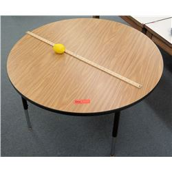 "Round Wooden Table 23""H"