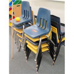 Qty 20 Plastic & Metal Chairs