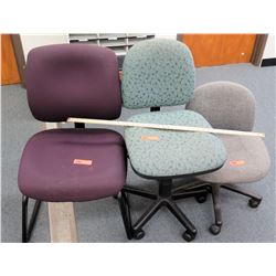 Qty 3 Office Chairs - 2 on Wheels